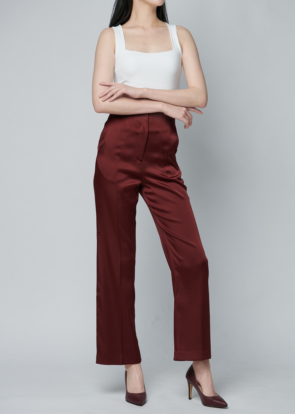 vivian satin slacks